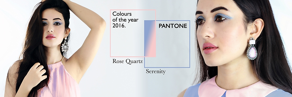 Master Pantone's Colours of the Year.. Rose quartz And  Serenity!