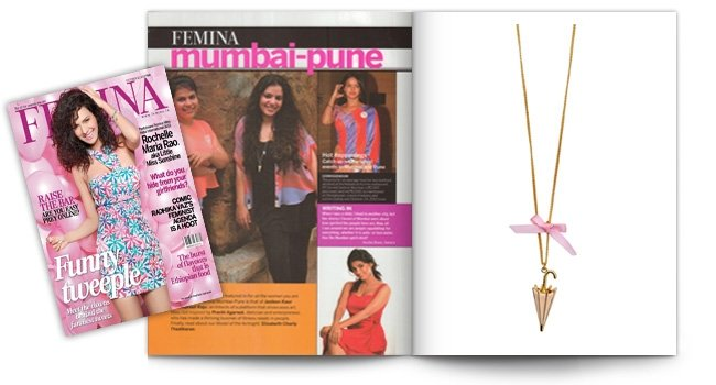 Femina, Its Raining Men Necklace