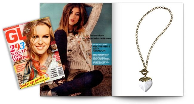 Girls Life Magazine, Jar Of Hearts Necklace