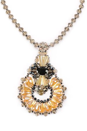 The Maleficient Gold Crystal Pendant Necklace