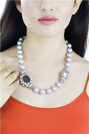 Crystal and Pearl in the Moonlight Necklace