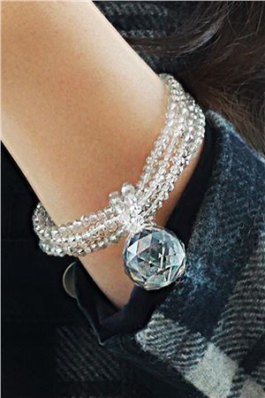 Ice Drop Crystal Silver Bracelet