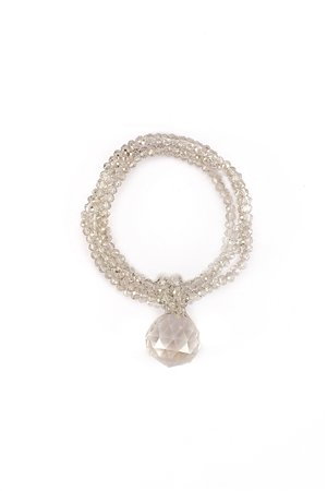 Crystal Ice Drop Silver Bracelet