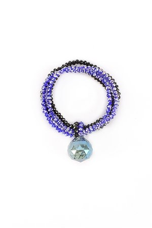 Crystal Ocean Drop Blue Bracelet
