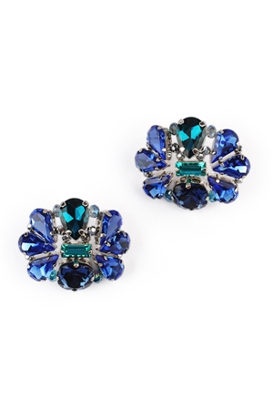 The Island Hopper Crystal Blue Stud Earrings