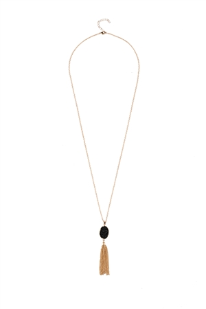 Sheer Sable Druzy Necklace