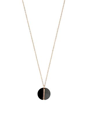 The Elara Black Stone Pendant Necklace