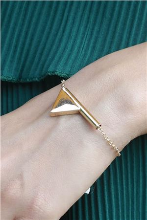 The Calypso Gold Triangle Bracelet