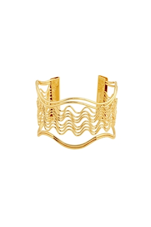 The Carina Gold Wave Cuff