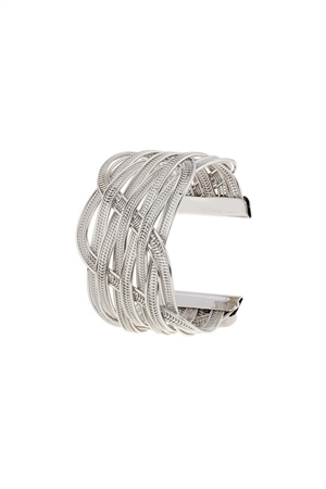 Woven Infinity Cuff Silver