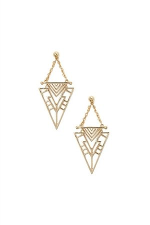 The Esther Triangular Minimalistic Gold Earrings
