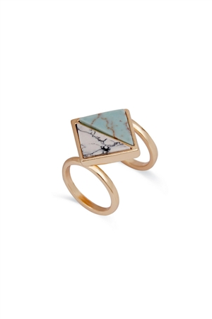 Vertex Marble Turquoise Stone Ring