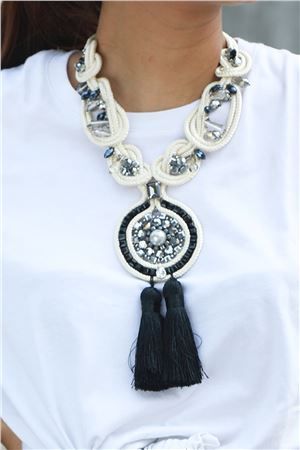 Threaded With Love Pearl Tassel Necklace