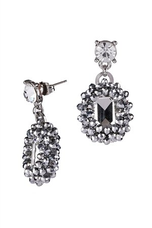 Intergalactic Crystal Statement Drop Earrings
