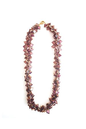 La Vi En Rose Gold Glass Necklace