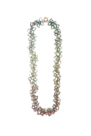 Laurel Dream Glass Silver Necklace