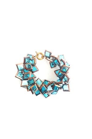 Ocean Breeze Bronze Glass Bracelet