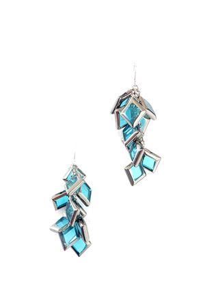 Ocean Breeze Silver Glass Earrings