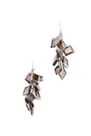Morning Mist Silver Glass Earrings