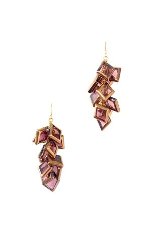 La Vi En Rose Gold Glass Earrings