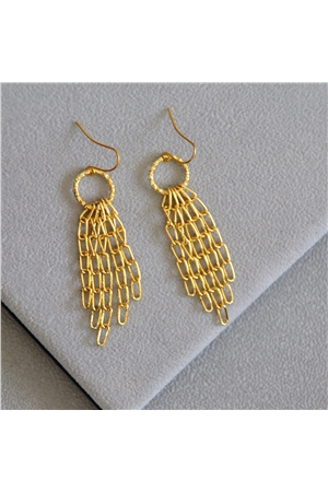 Hazel Gold Link Delicate Earrings