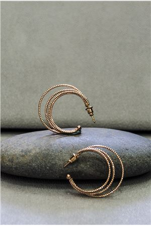 Clara Rose Gold Hoop Earrings