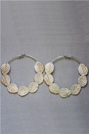 Gianna Silver Hoop Earrings