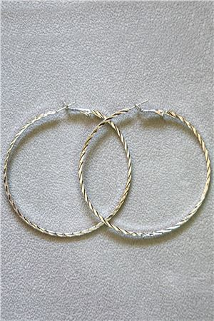 Arabella Silver Hoop Earrings