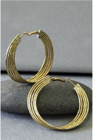 Ximena Gold Big Hoop Earrings