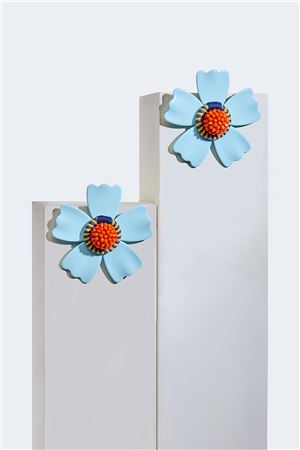 Cyan L'Aster Stud Earrings
