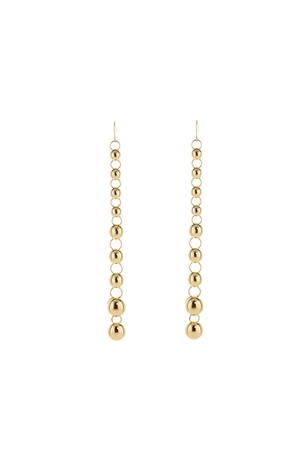 Gold Beaded Dangler Earrings
