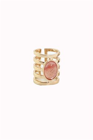 Boho Red Stone Gold Ring