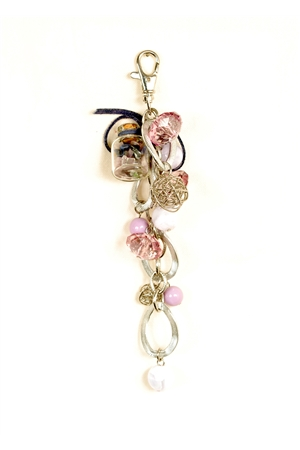 Purple Pink Entangled Link Key Chain