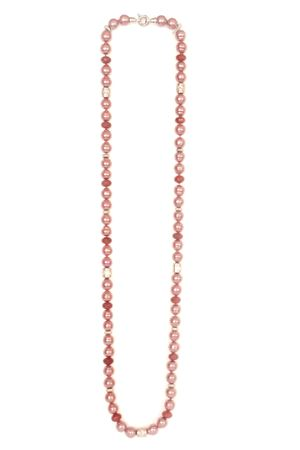 Red Baroc Majorca Pearl Long Necklace