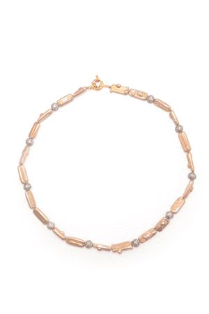 Gold Pearl Bali Necklace
