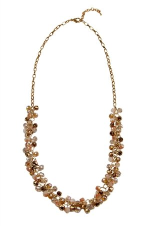 The Flapper Topaz Glass Beads Long Necklace