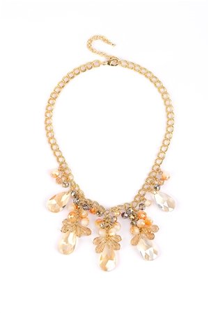 The Ballet Dancer Champagne Crystal Drop Necklace