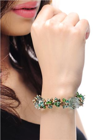 Surfs Up  Everyday Wear Green Crystal Bracelet