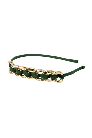 The Dan Humphrey Olive Interlock Weave Hairband