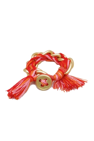 Red Thread Button Bracelet