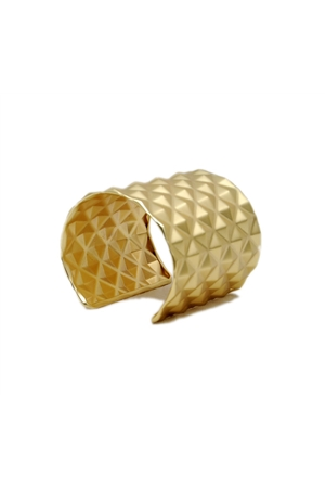 Checkered Gold Cuff