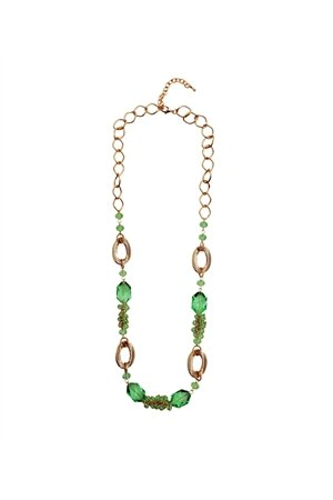 Green Apple Briolette Necklace