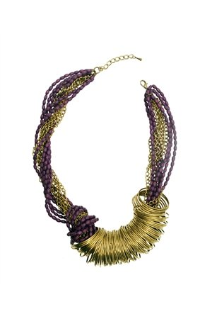 Spinning Around Violet Necklace