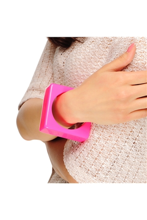 Perfect Pink Square Bangle