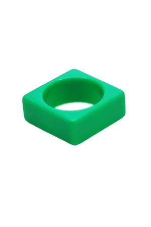 Lime Green Square Bangle