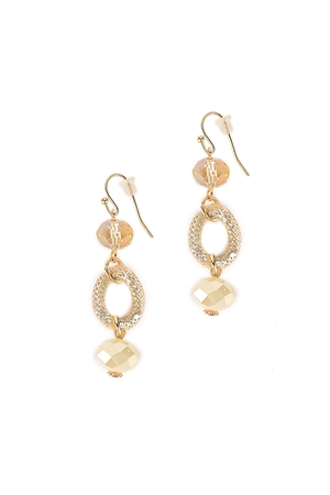 Natural Link Drop Earrings
