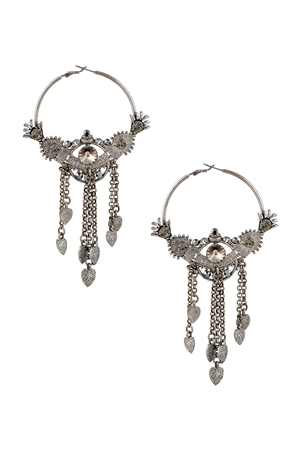 Fringe Heart Earrings