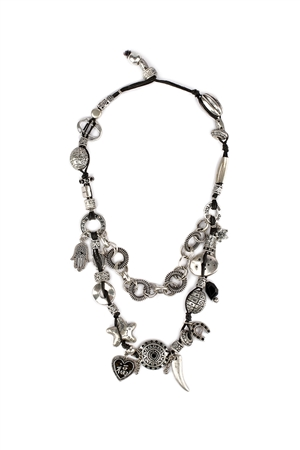 Oxidised Charms Necklace