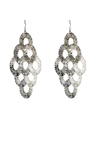 Uneven Textured Chandelier Earrings