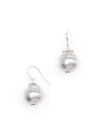 Rouge Cerise Pearl Drop Earrings